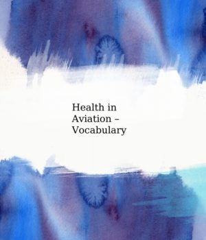 Mock up cover - Aviation English health vocabulary