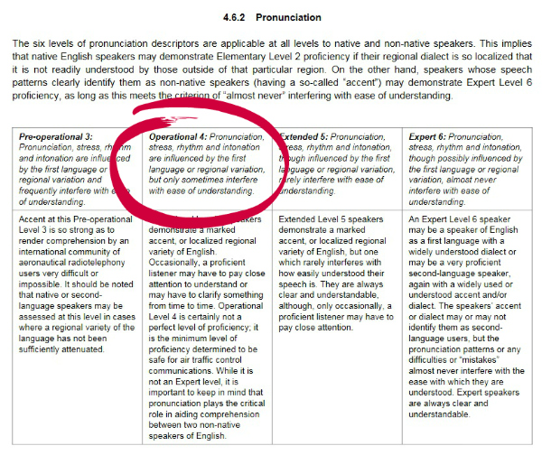 ICAO pronunication