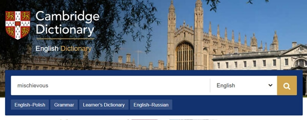Cambridge Online Dictionary