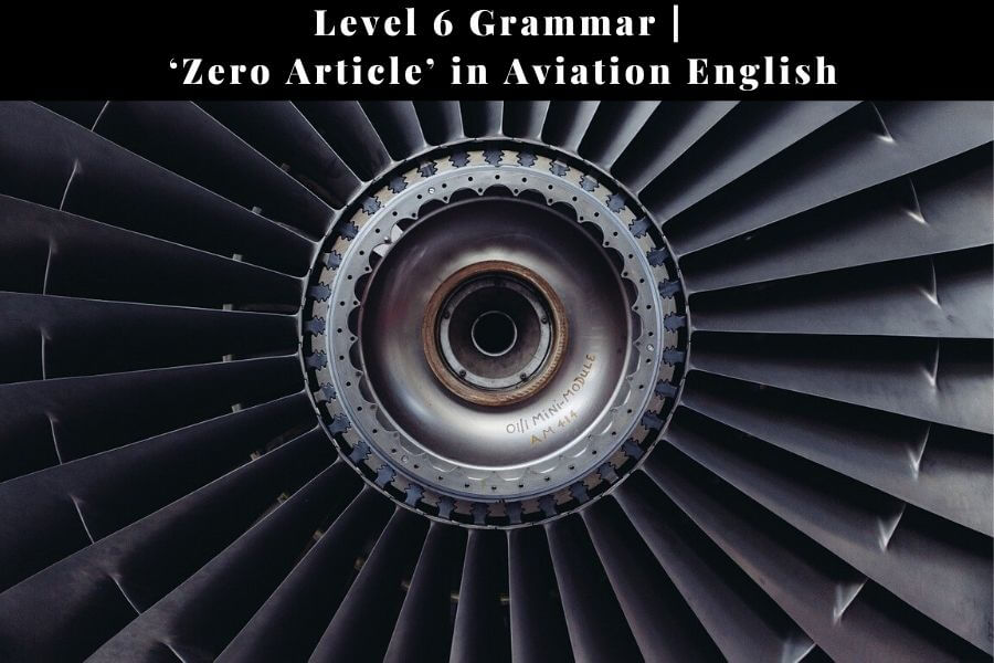 Zero article in general and aviation English