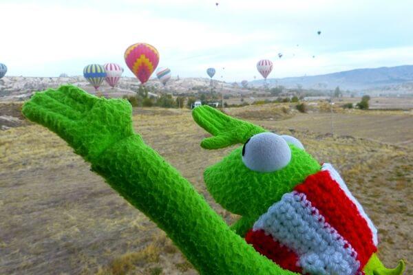 Hot air balloons display