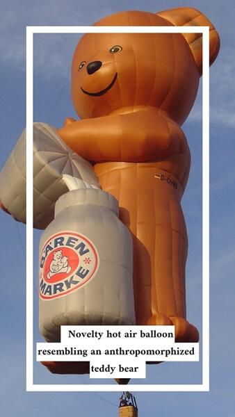 Novelty hot air balloons