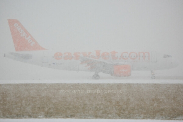 Wintertime at an airport