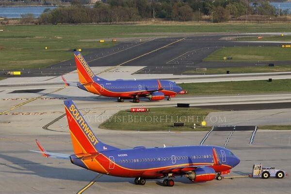 Two Southwest Airlines Boeings 737